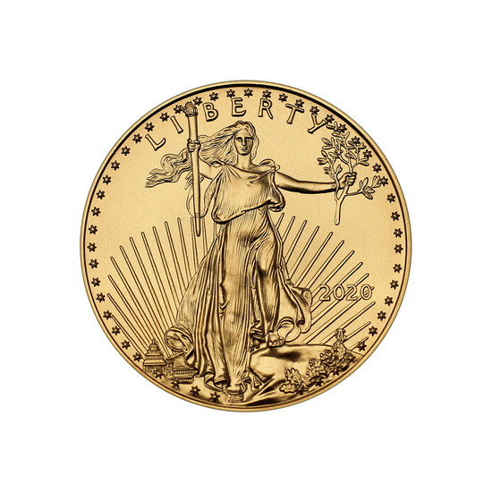 2020 Gold American Eagle Quarter Ounce BU Gold Coin