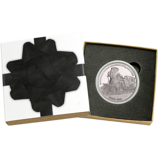Train American Steam Locomotive 440 Type 1oz .999 Silver Medallion