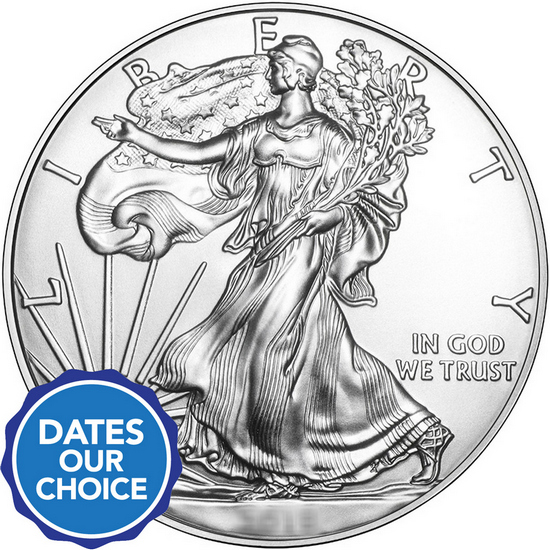Silver American Eagle BU Date Our Choice