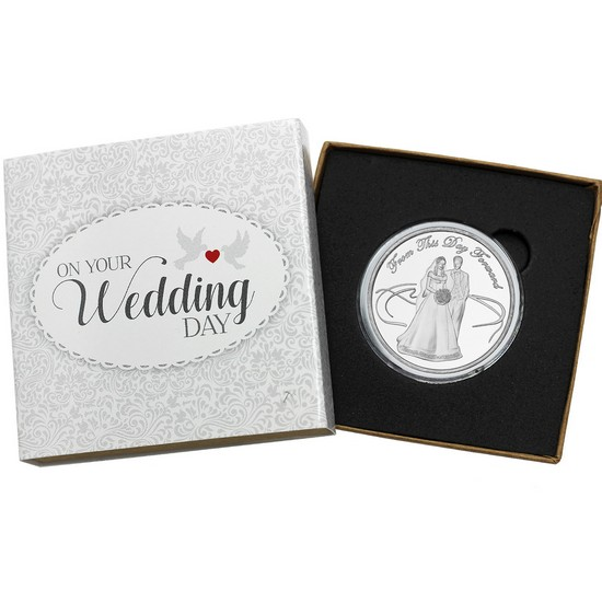 Wedding Couple 1oz .999 Silver Medallion Dated 2017