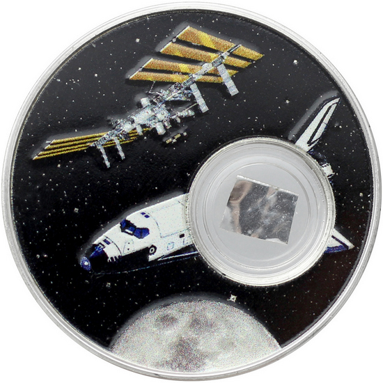 2018 Niue Silver Space Shuttle with Space Flown Insulation 1oz Proof in OGP