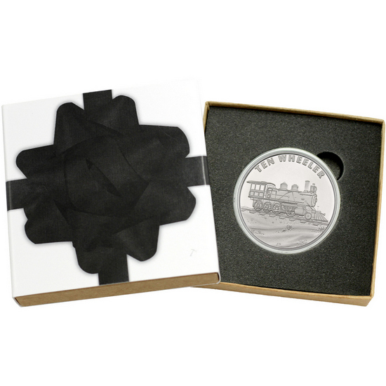 Train Ten Wheeler 1oz .999 Silver Medallion