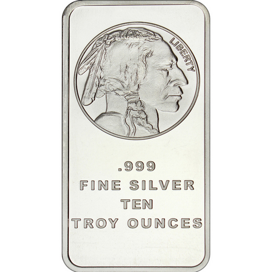 "10 grams .999 Fine Silver bar /""NEW/"" /""Indian Chief/"" design"