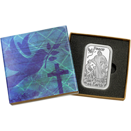 Peace on Earth Jesus 1oz .999 Silver Bar