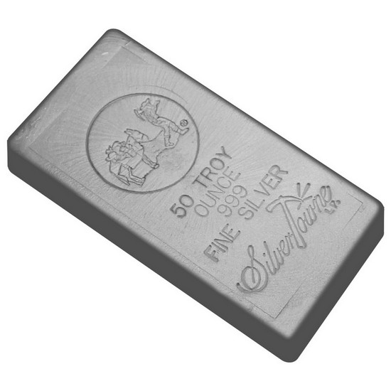 50 Oz Hand Poured Silver Bar 999 Fine