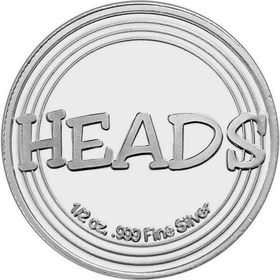 Heads or Tails Half Ounce .999 Silver Medallion