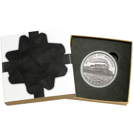 Train Atlantic City Railroad 442 Type 1oz .999 Silver Medallion
