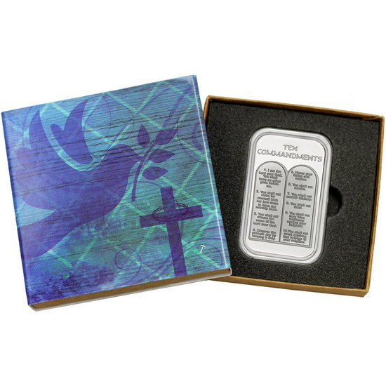 Ten Commandments 1oz .999 Silver Bar
