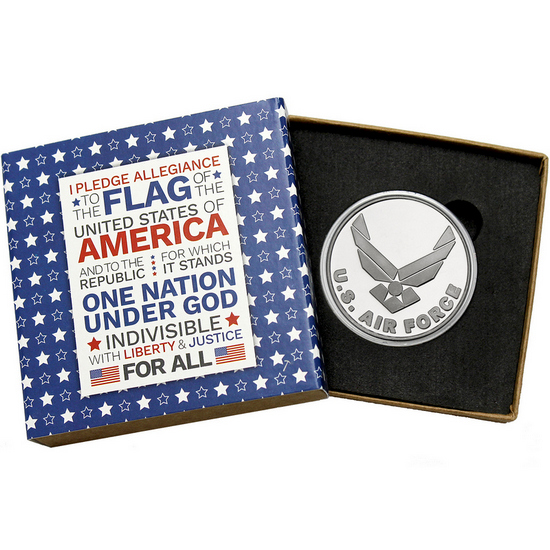 US Air Force 1oz .999 Silver Medallion in Gift Box