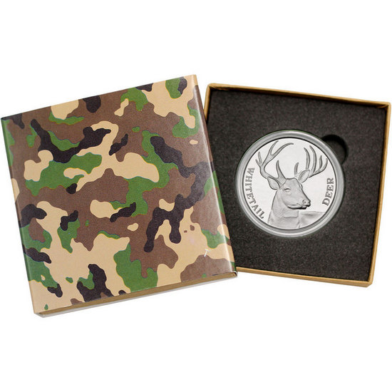 Whitetail Deer 1oz .999 Silver Medallion