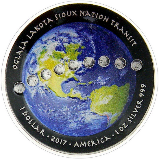 2017 1 oz Silver Solar Eclipse Curved Coin