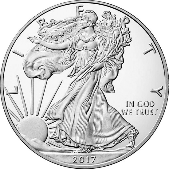 2017 W Silver American Eagle Coin PF in OGP