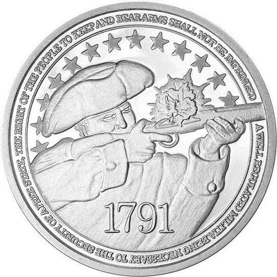 2nd Amendment 1oz .999 Fine Silver Medallion