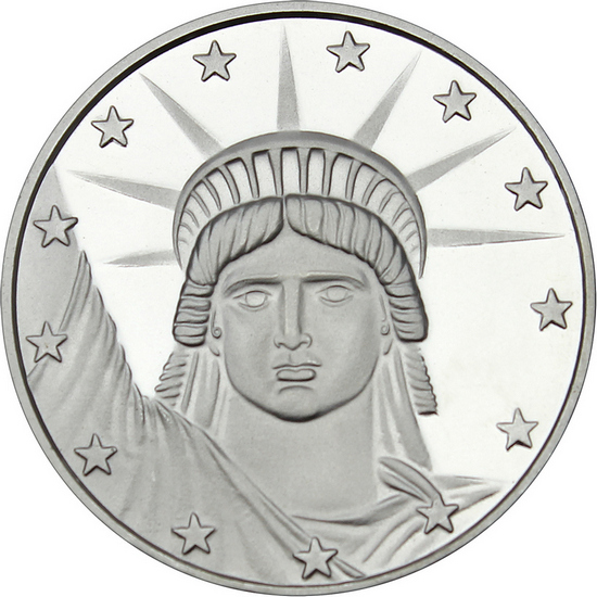 Lady Liberty 1oz .999 Silver Medallion