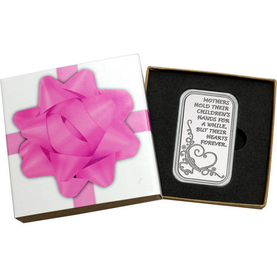 Mothers Forever Hearts 1oz .999 Silver Bar