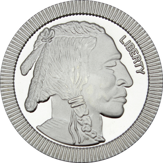 Buffalo Replica Stackables 1oz .999 Silver Medallion