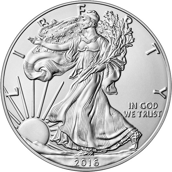 2016 W Burnished Silver American Eagle BU in OGP