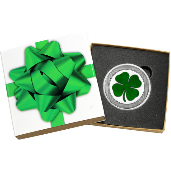 Four Leaf Clover Stackables 1oz .999 Silver Medallion Enameled
