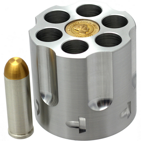 Trump .45 Colt Signature Gold Tipped 1.5 Ounce .999 Silver Bullet in Revolver Display