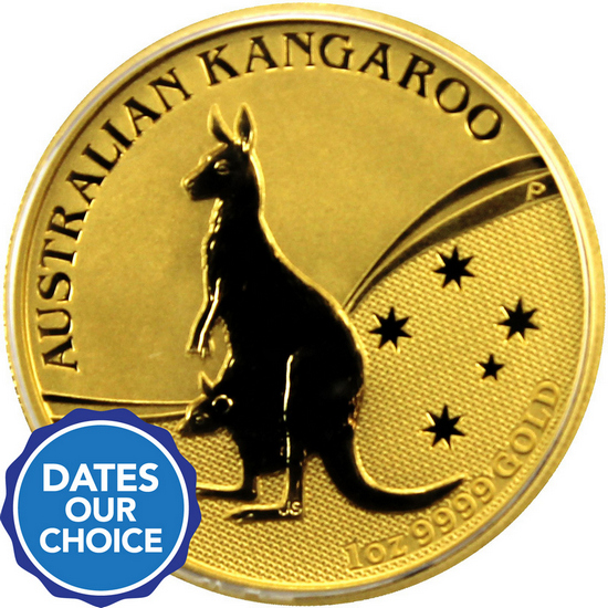 Australia Gold Kangaroo 1oz BU Date Our Choice