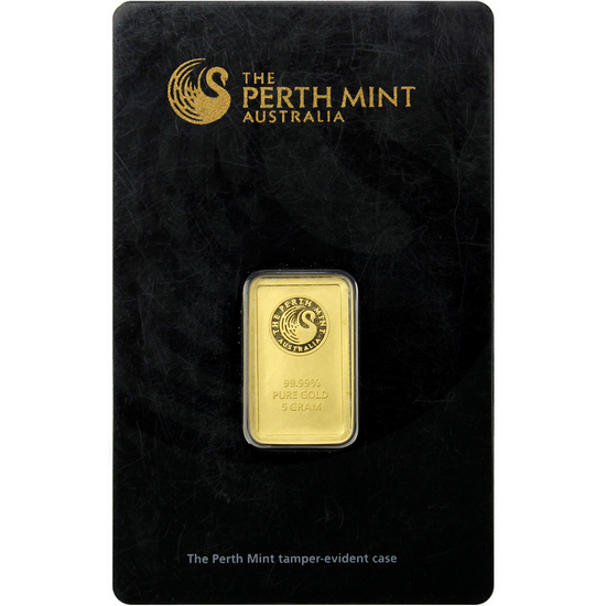 Australian Perth Mint 5 Gram Gold Bar - Secondary Market