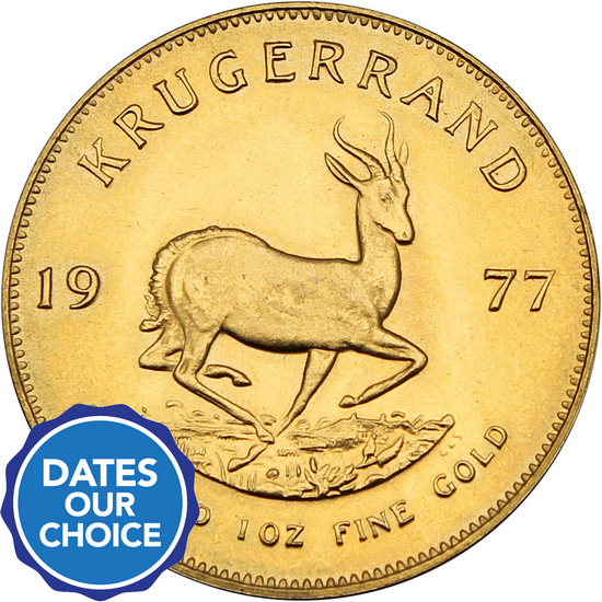 South Africa Krugerrand Gold One Ounce Date Our Choice - Secondary Market
