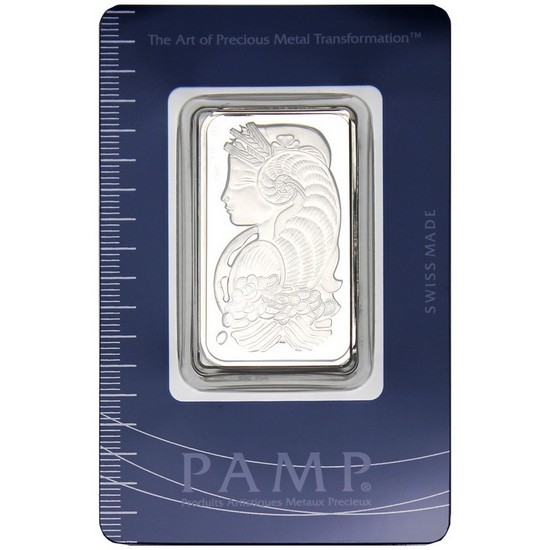 In Assay 1 oz PAMP Suisse Lady Fortuna Platinum Bar .9995 Fine
