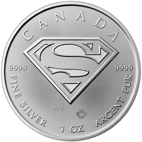 2016 Canada Silver Superman™: S-Shield 1oz BU