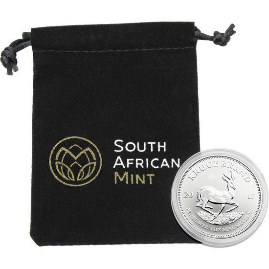 2017 South Africa Silver Krugerrand 50th Anniversary 1oz Premium Uncirculated