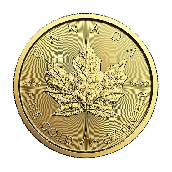 2017 Canada Gold Maple Leaf 1/2oz BU