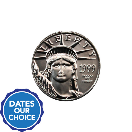 Platinum American Eagle Tenth Ounce Date Our Choice