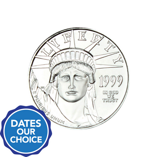 Platinum American Eagle Quarter Ounce BU Date Our Choice