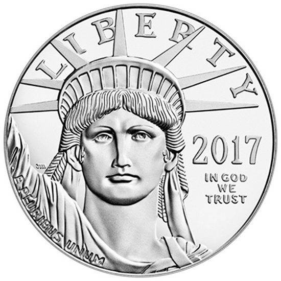 2017 Platinum American Eagle 1oz BU