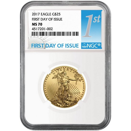 2017 Gold American Eagle Half Ounce ($25) MS70 NGC First Day Issue Label