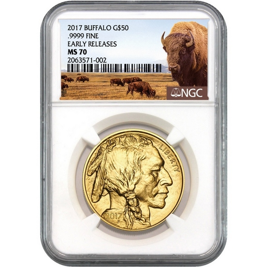 2017 Gold Buffalo 1oz ($50) MS70 ER NGC Buffalo Label