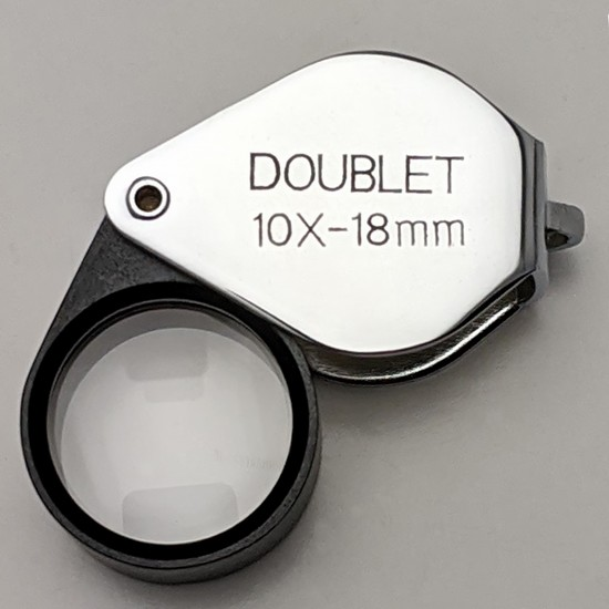 Doublet 10X 12mm Chrome Loupe