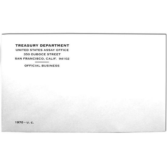 1970 OGP Envelope for United States Mint Uncirculated Coin Set
