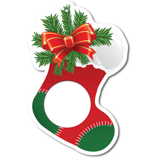 Christmas Stocking Foam Core Ornament for 1 Ounce Medallion