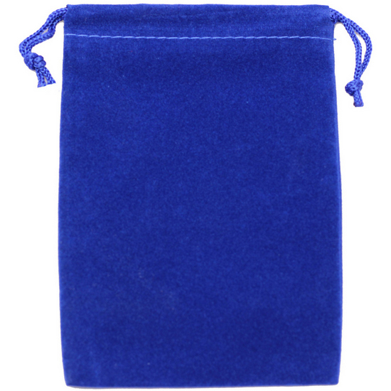 Large Blue Velvet Pouch for 5oz Rounds