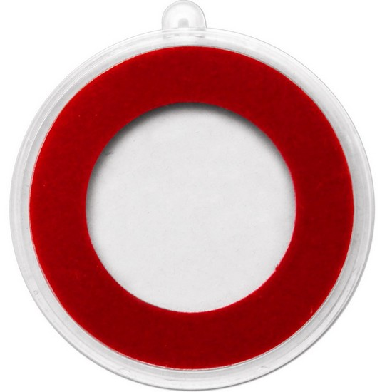 Plastic Capsule - Half Ounce with Red Ring Medallion Ornament