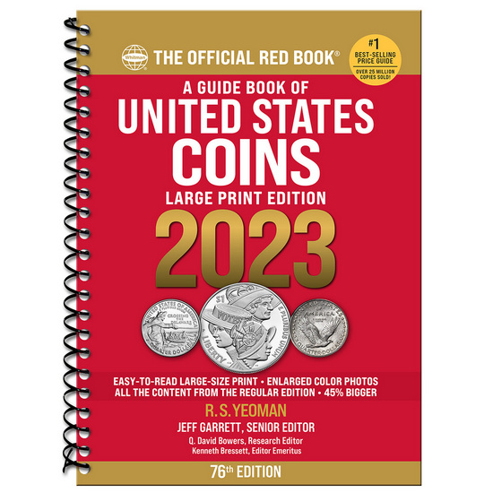 2018 The Official Red Book Guide of U.S. Coins Spiral Bound Large Print