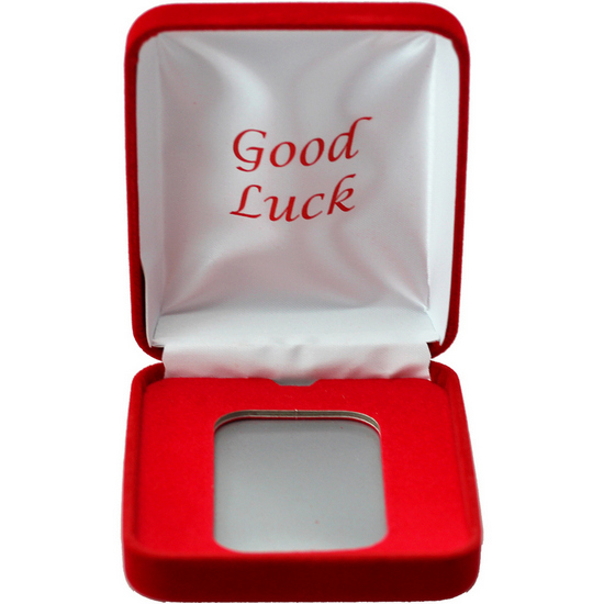 Good Luck Red Velvet Clamshell Gift Box for 5oz Bars