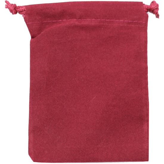 Large Maroon Velvet Pouch for 5oz Rounds
