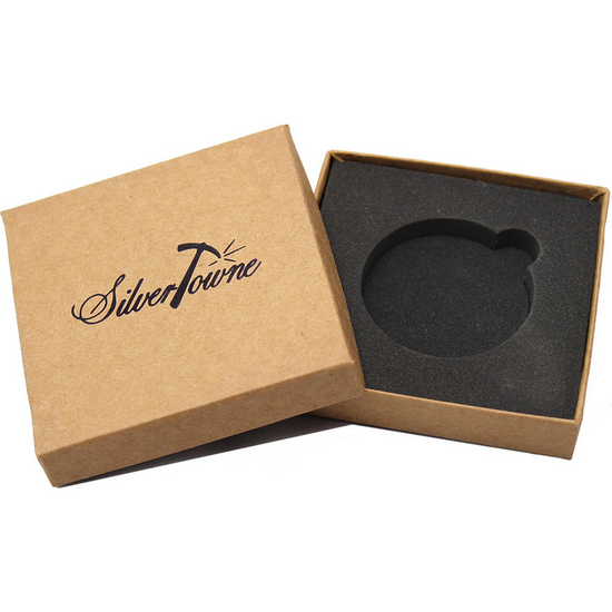 SilverTowne Natural Kraft Paper Gift Box for 1oz 39mm Medallion/Rounds