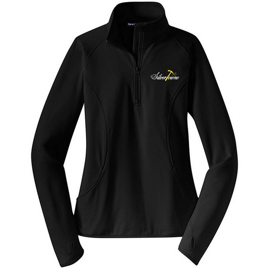 SilverTowne Women's Embroidered Logo Half Zip Pullover