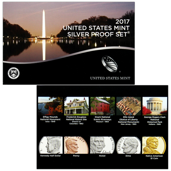 2017 S 10pc Silver Proof Set