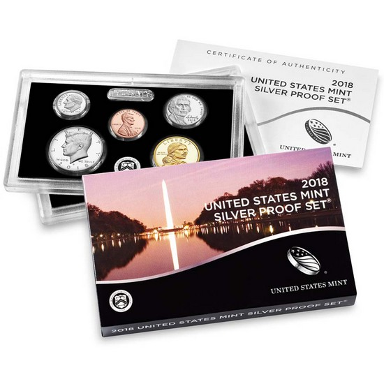 2018 S United States Mint 10pc Silver Proof Set