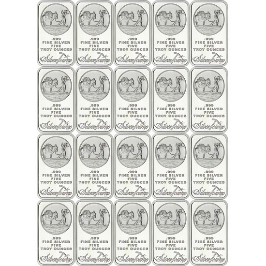 SilverTowne Trademark 5oz .999 Silver Bar 20pc