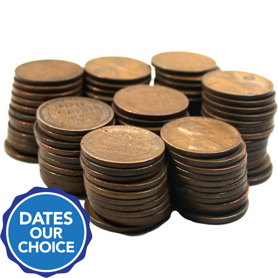 1920s Wheat Cents 100pc Grab Bag Dates Our Choice