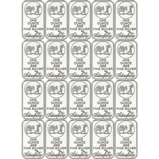 SilverTowne Trademark 1oz .999 Silver Bar 20pc